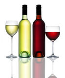 Red White Wine Bottle Glass Royalty Free Stock Images