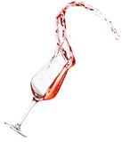 Red wine spilling Stock Photography