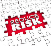 Reduce Risk Puzzle Hole Pieces Lower Danger Increase Safety Secu Stock Photo