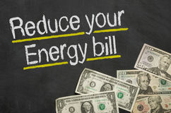 Reduce your energy bill Stock Images