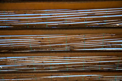 Reed roof Stock Image