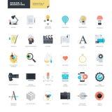 Reeks moderne vlakke ontwerppictogrammen voor grafische en Webontwerpers Stock Afbeelding