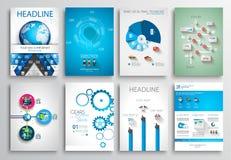 Reeks van Vliegerontwerp, Webmalplaatjes Brochureontwerpen Stock Afbeelding