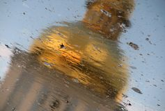 A Reflection of St. Michael's Cathedral Kiev, Ukraine Stock Images