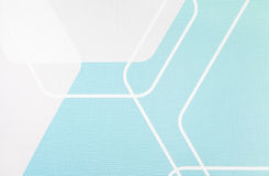 Regular geometric fabric texture light blue and white background, cloth pattern Royalty Free Stock Photos