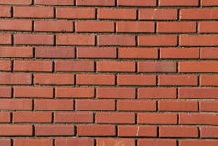 Regular Patterns in Red Brick Wall Stock Image