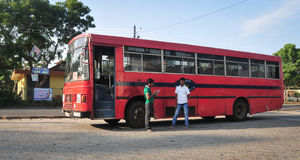 Regular public bus from Hikkaduwa to Galle Royalty Free Stock Photography