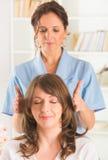 Reiki healing Stock Image