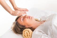 Reiki healing Stock Images