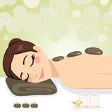 Relaxing Stone Massage Stock Image