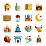 Religion Icon Set Royalty Free Stock Photography
