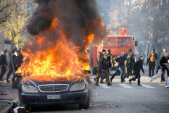 Rellen in Athene 18_12_08 Royalty-vrije Stock Foto's