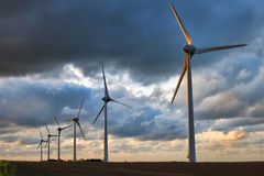 Renewable Energy Wind Power Windmill Turbines Stock Photos