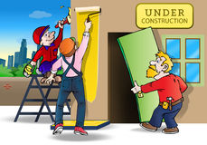 Repairing house Royalty Free Stock Photography