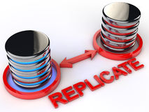 Replicate Data Royalty Free Stock Photography