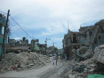 Reportage on the streets of haiti Royalty Free Stock Images