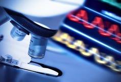 Research microscope Stock Photo