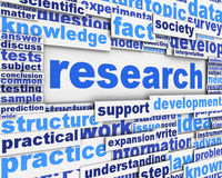 Research poster design Royalty Free Stock Photo