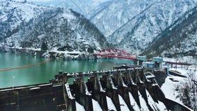 Reservoir in winter Stock Images