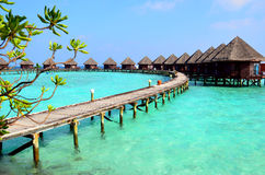 Resort in Maldives Stock Images