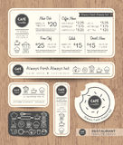 Restaurant Cafe Set Menu Graphic Design Template Royalty Free Stock Photography