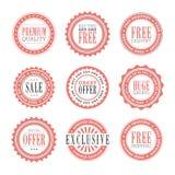 Retail Badges Royalty Free Stock Photos