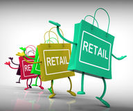 Retail Bags Show  Commercial Sales and Commerce Stock Image