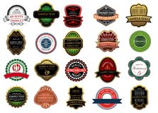 Retail banners, badges and labels Stock Image