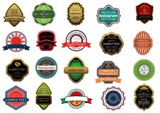Retail banners and labels set Royalty Free Stock Photography