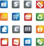 Retail icon set Stock Photos