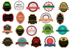Retail labels and banners Stock Photos
