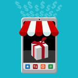 Retail Mobile Purchase Icon Stock Photography