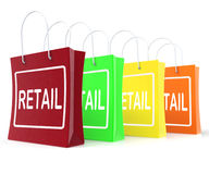 Retail Shopping Bags Shows Buying Selling Merchandise Sales Stock Photos