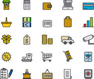 Retail Shopping Icons Collection Royalty Free Stock Photography