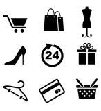 Retail and shopping icons Royalty Free Stock Photos