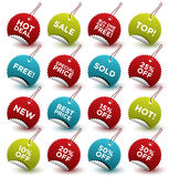 RETAIL STICKERS Royalty Free Stock Images