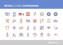 Retail store categories Royalty Free Stock Photos