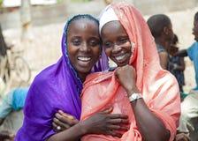 Retrato de duas meninas africanas Fotografia de Stock