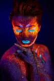 Retrato UV Imagens de Stock Royalty Free