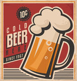 Retro beer vector poster Royalty Free Stock Images