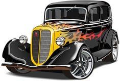 Retro car GAZ-M1 hotrod Stock Photos