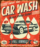 Retro car wash sign Stock Images