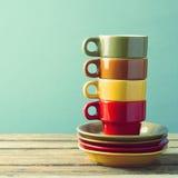 Retro coffee cups Royalty Free Stock Photo