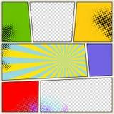 Retro Comic Book Vector Background Stock Image