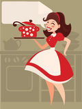 Retro cooking Stock Image