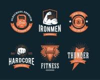 Retro Fitness Emblems Royalty Free Stock Image