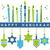 Retro Happy Hanukkah Card [5] Royalty Free Stock Image
