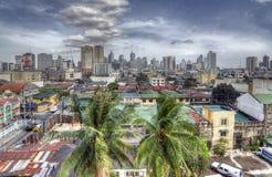 Retro HDR Manila Skyline Royalty Free Stock Photo