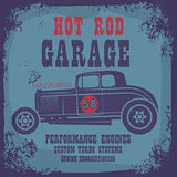 Retro Hot Rod poster Stock Image