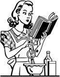 Retro Lady Cook Stock Image